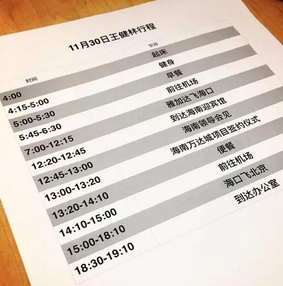 马云每天作息时间表(优秀人的自律时间表)
